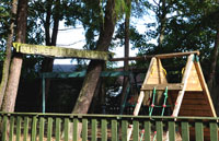 The children's adventure area at the Cottage Inn